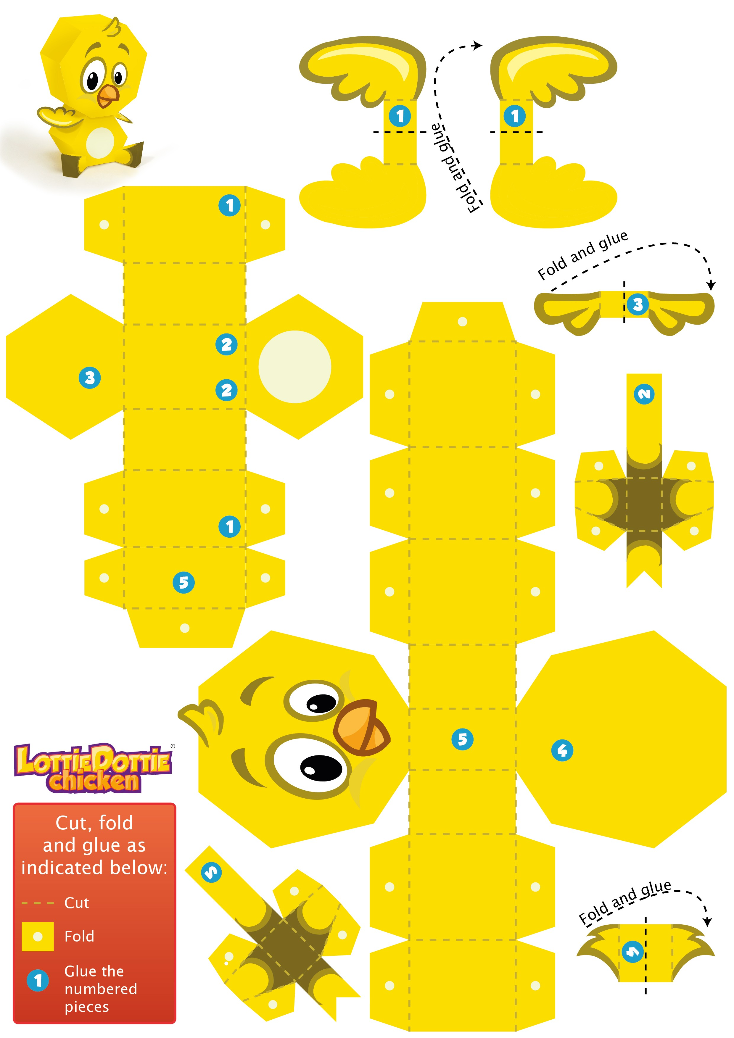 Uncategorized Paper Toys paper toys lottie dottie chicken official website yellowchickadee papertoy 01