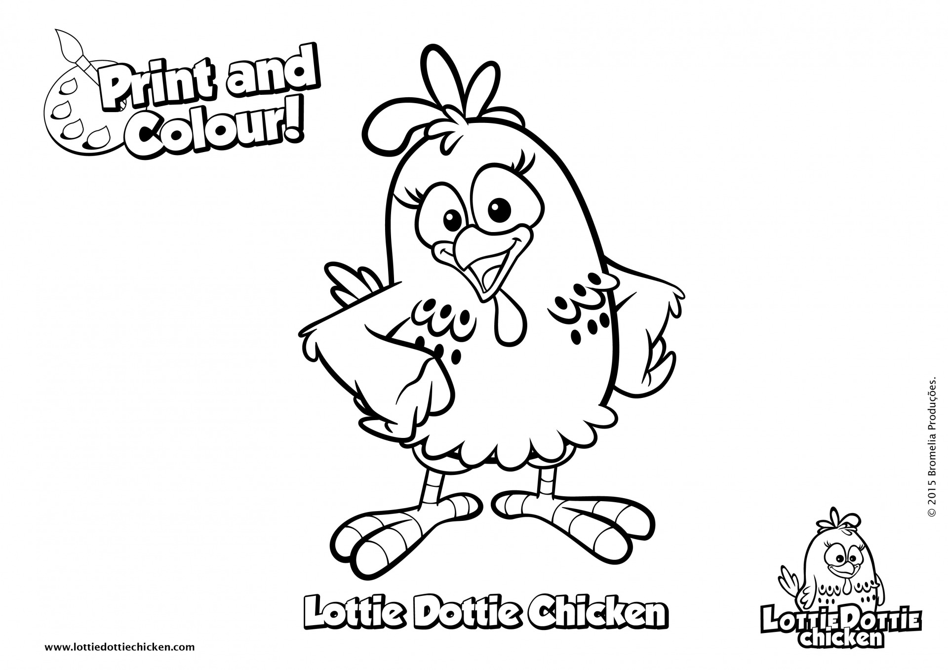 Coloring pages - Lottie Dottie Chicken Official Website